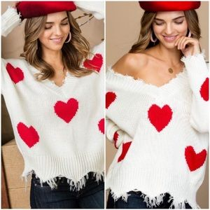 Sweaters - Preorder!OFFERS Welcome ❤️White Distressed Sweater